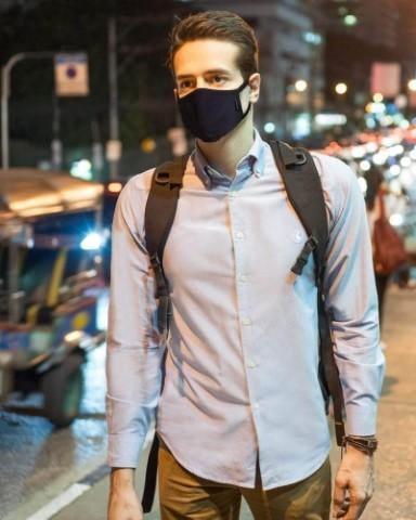 man wearing styleseal fashion face mask in bangkok