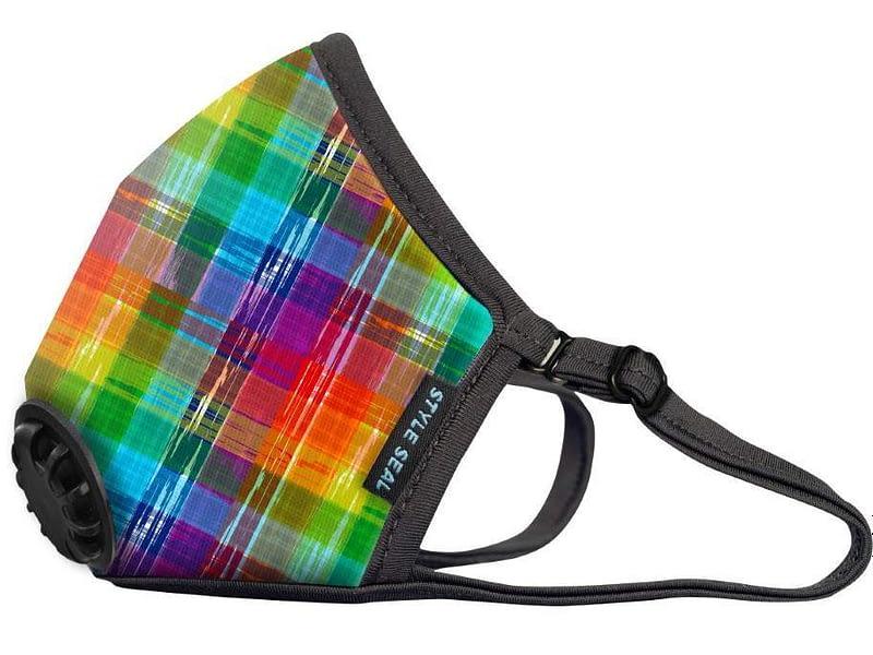 styleseal air mask rainbow plaid